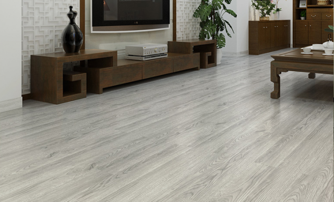 Sound Absorption LVT Luxury Vinyl Tile 4mm Thickness With Vertical Click Joint System